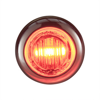 """3/4"""" Red/Red LED Clearance Marker Bullet Lights"""