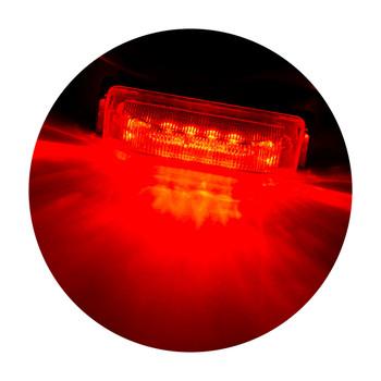 "4"" x 1"" Rectangle RV LED Marker Light Red/Red"