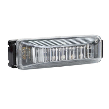 """4"""" x 1"""" Rectangle RV LED Marker Light Clear/Red"""
