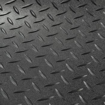 "8'2"" Diamond Pattern RV Flooring In Black"