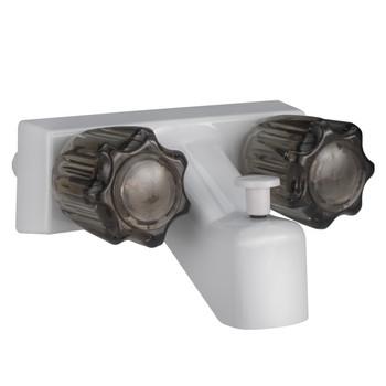 "4"" RV Tub and Shower Diverter Faucet White/Smoke"