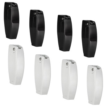 Rounded RV Baggage Door Catch Set Black and White