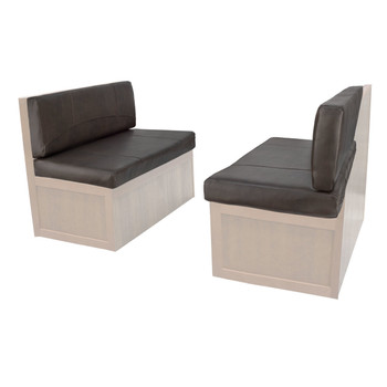 """Charles Style RV Dinette Cushions 38"""" to 44"""" with Suprima Leather and Memory Foam"""