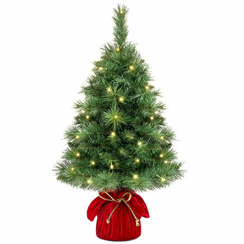 """26"""" Pre-Lit Tabletop Fir Artificial Christmas Tree - Battery Operated"""