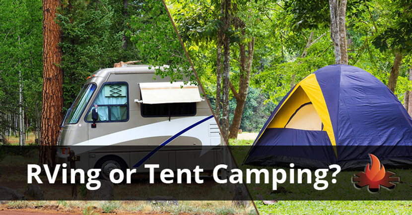 The Battle Between Camping and RVing:  Who Will Win the War?