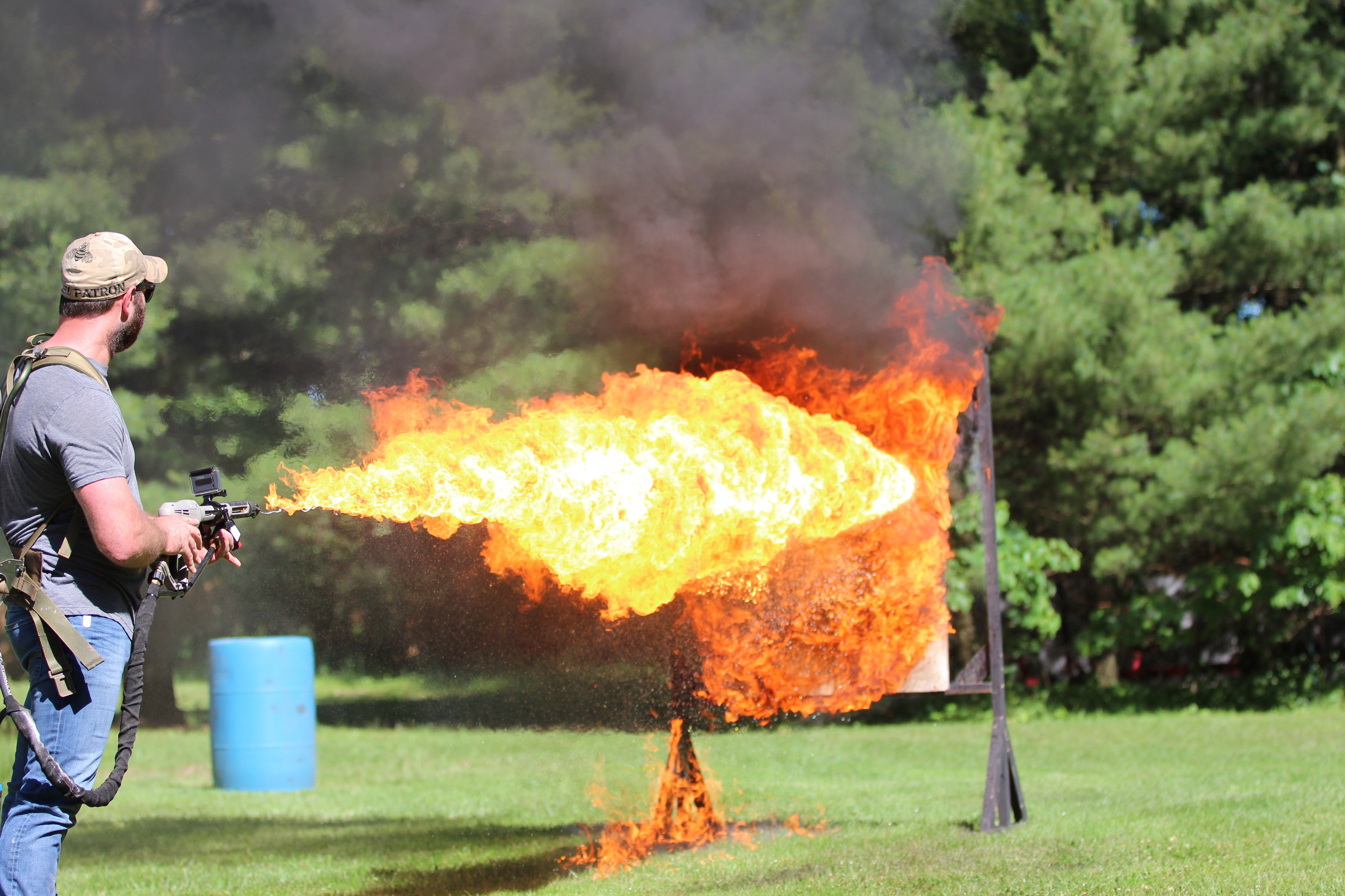 Flame Thrower Test 1 - RV Butyl