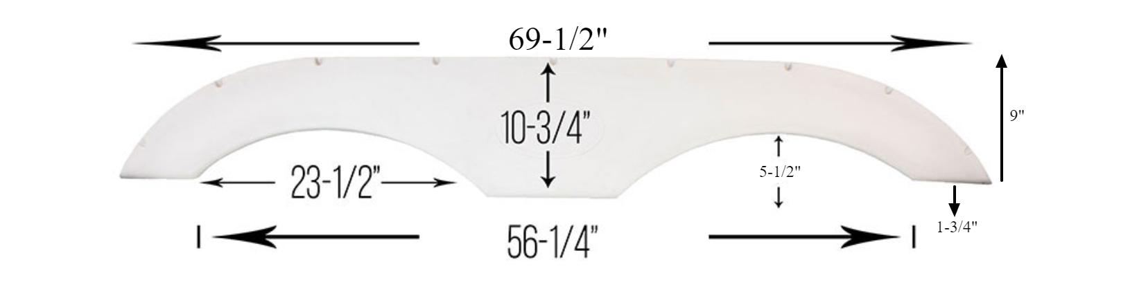 Tandem RV Fender Skirt - Pair - RecPro
