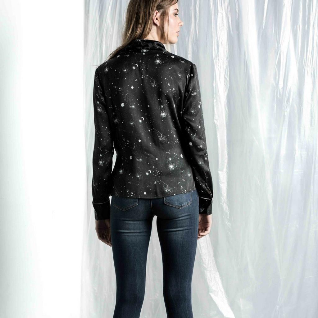 Women's Tops Online   Constance Printed Wrap Shirt   SAINT ROSE