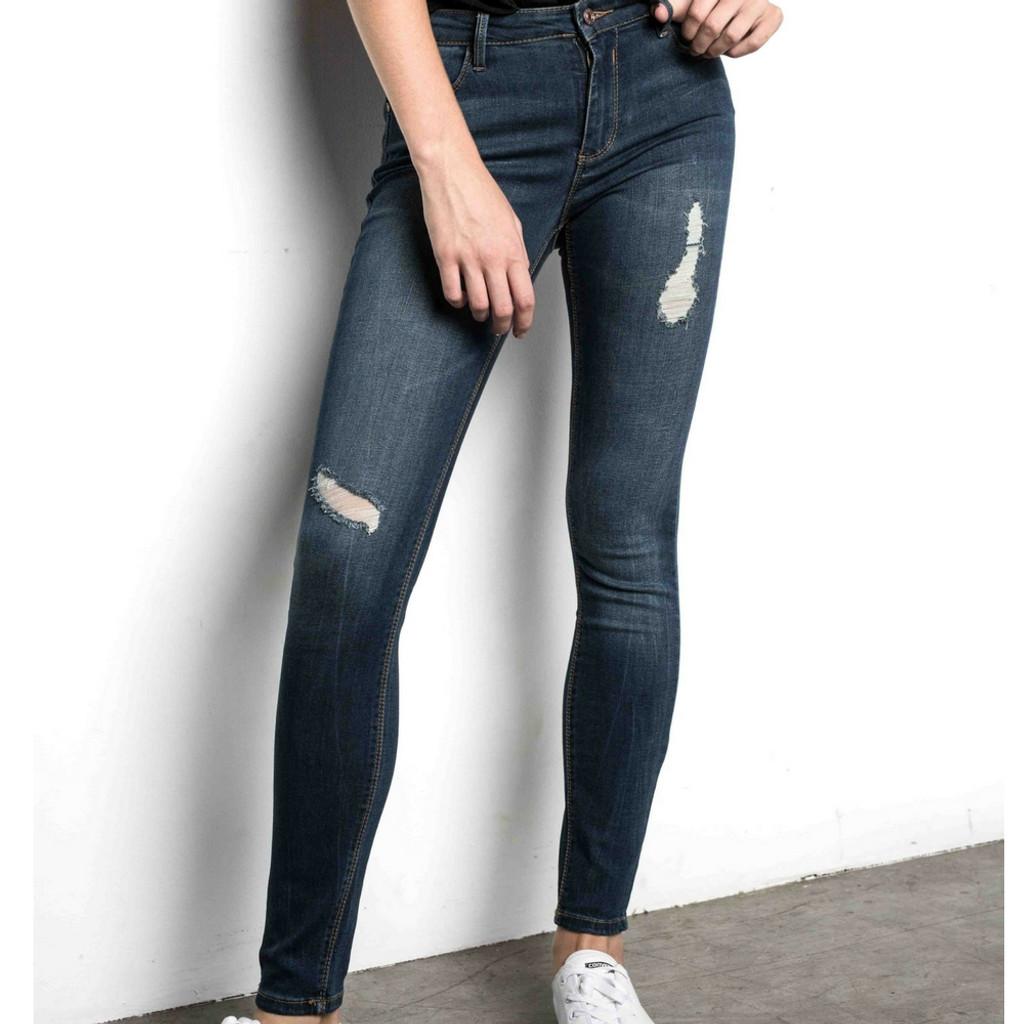 Women's Pants | Elena Long Denim Jean | SAINT ROSE
