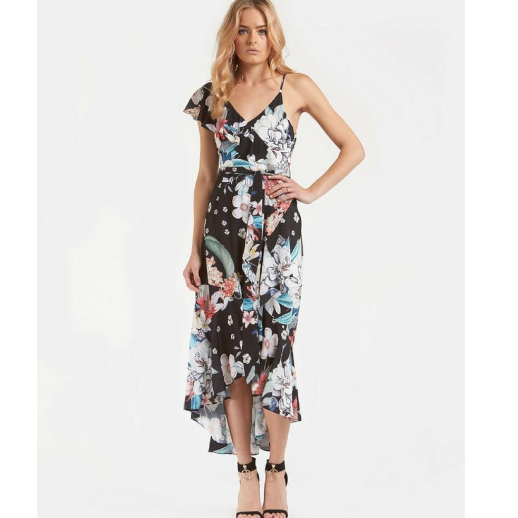 Women's Dresses Australia |  Floral Kingdom Midi Dress | AMELIUS
