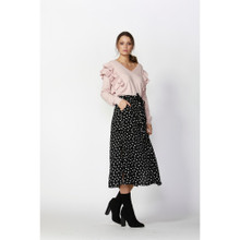 Women's Skirts Online | Dee Polka Dot Skirt With Tie | FATE + BECKER