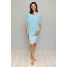 Cotton Stripe Skirt in Aquatic by VIGORELLA*