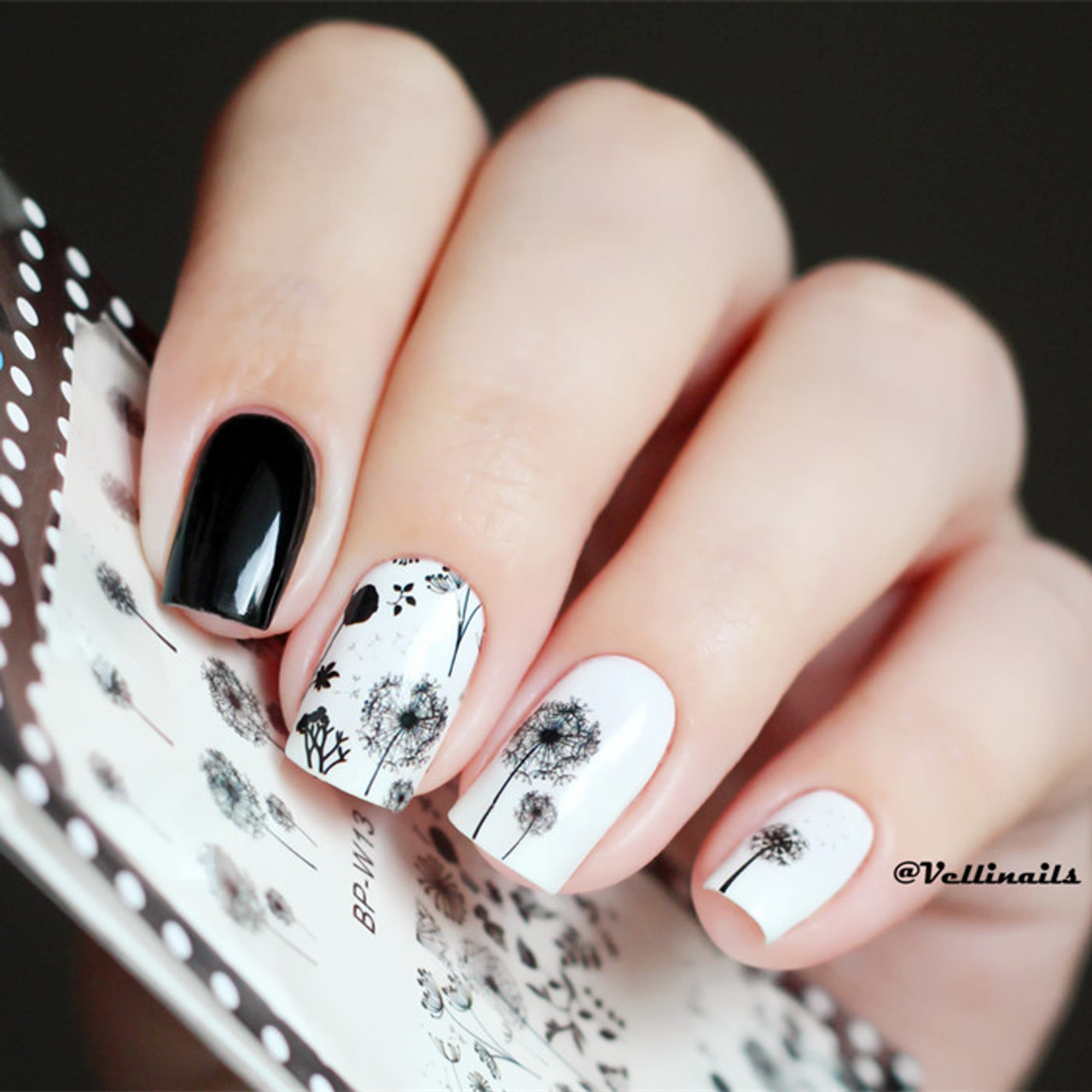 Flying Dandelion Nail Art Decal Stickers - Fashion Mouse