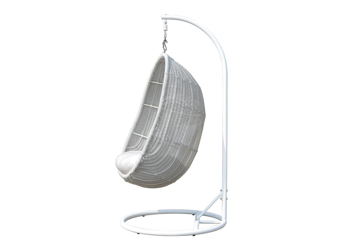 Soft Grey Wicker, Sunbrella Premium Natte White Cushions