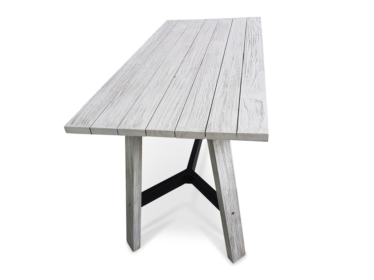 outdoor narrow aged teak dining table tele for sale in auckland nz. Black Bedroom Furniture Sets. Home Design Ideas