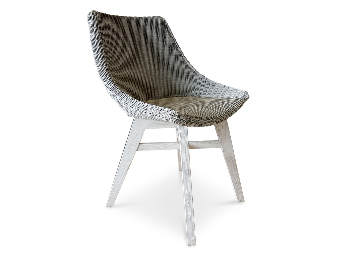 Obi Outdoor Synthetic Wicker Dining Arm Chair For Sale In