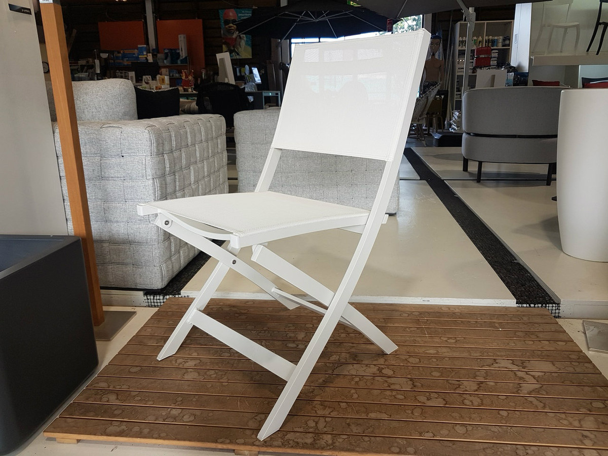 rosie folding sling aluminium outdoor chair for sale auckland nz