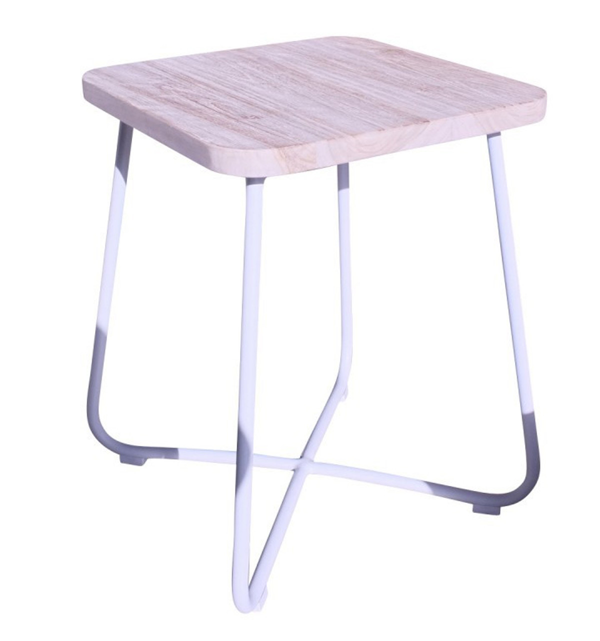 Foxtrot Outdoor Teak And Aluminium Side Table - Teak and aluminium outdoor table