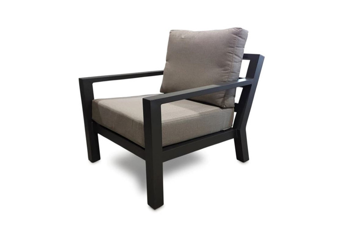 The Alu Timber outdoor lounge chair by Life is supremely comfortable and has a decent seat height of 44cm. Made from fully welded aluminium, it is strong and durable. Lava powder-coat finish.