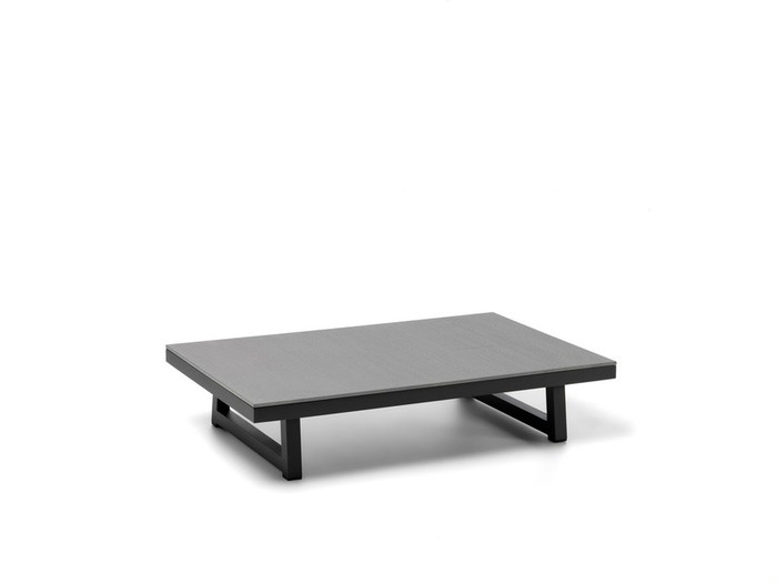Alabama Alu coffee table with cement top by Talenti