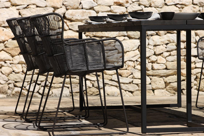 Bunga outdoor chairs in Lava colour