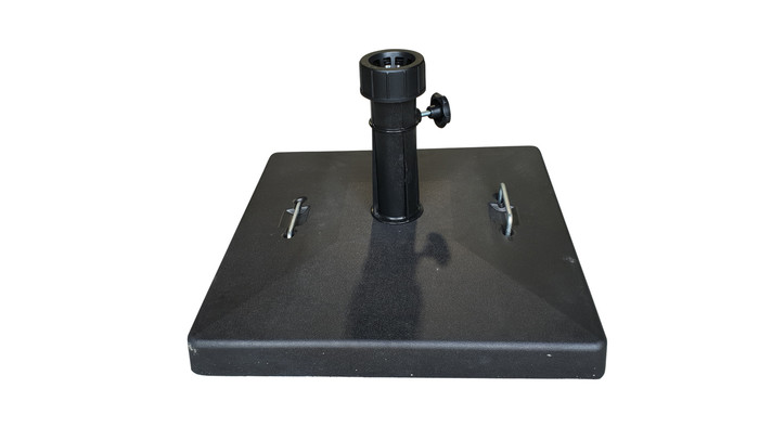 Top view of 35kg plastic encased umbrella base