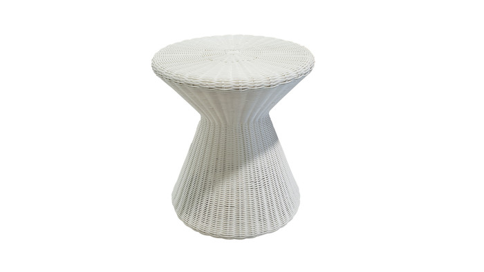 Tom outdoor side table in Stone White