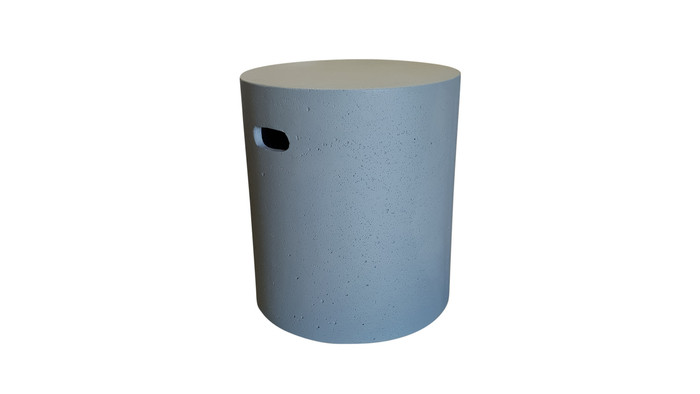 Lime lightweight concrete round stool