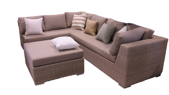 This listing is for the ottoman (in the center) only. The corner sofa is sold out.