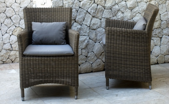 Hawaii outdoor armchair - 3mm cord wicker