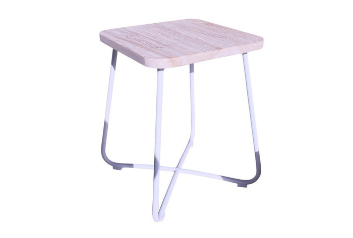Foxtrot outdoor teak and aluminium side table