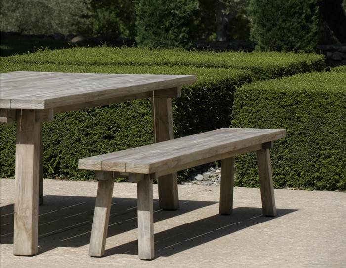 Beam outdoor table 200x105x76 - aged teak