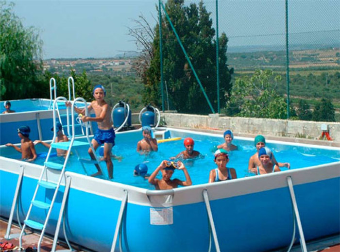 Swimming pools for school or commercial use. Aboveground, portable
