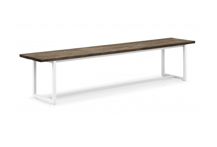 Messina outdoor bench seat 220cm white or coffee