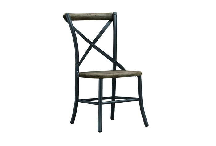 Cross outdoor dining sidechair