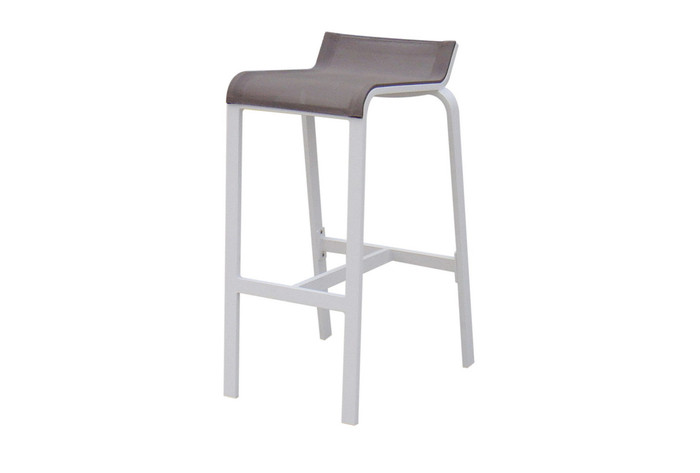 Luis outdoor bar stool in coffee sling