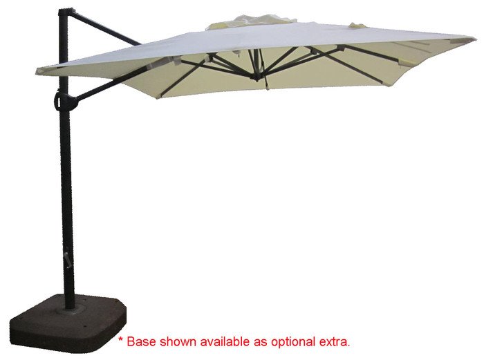 360 sidepost patio umbrella 2.5m square