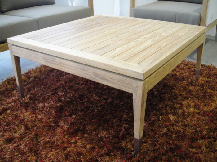 Samantha outdoor coffee table teak frame