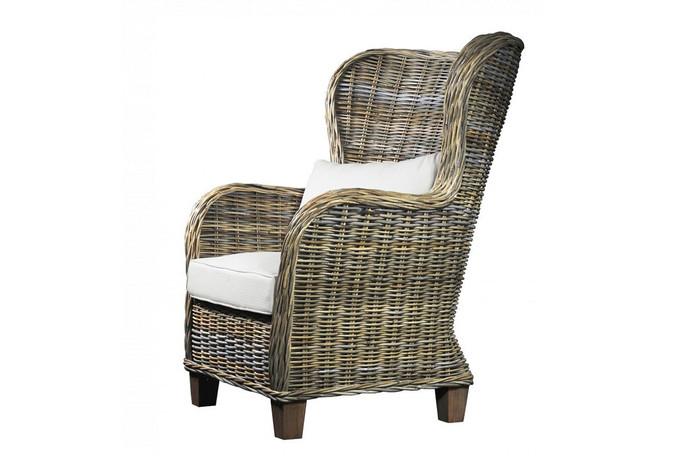 King rattan armchair