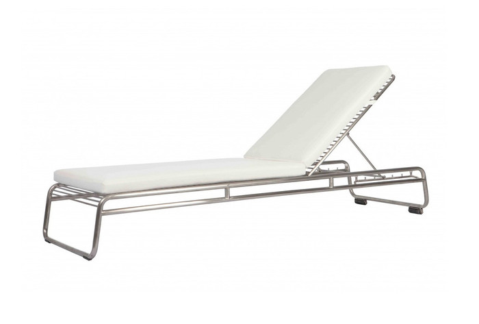 Phoenix sun lounger stainless steel - electropolished