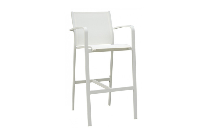 Luis outdoor bar stool with arms