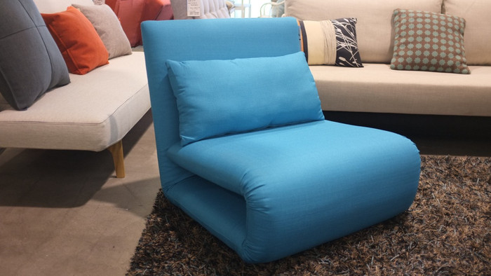 Tri-Fold single sofa bed in Blue- Sofa beds NZ