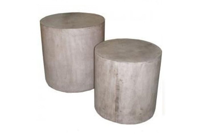Doloma lightweight concrete outdoor side tables -  set of 2
