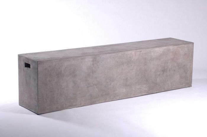 Endia lightweight outdoor concrete bench 160