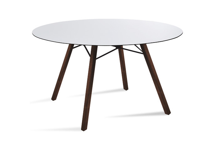 Wox Iroko outdoor dining table with HPL top - 120cm dia
