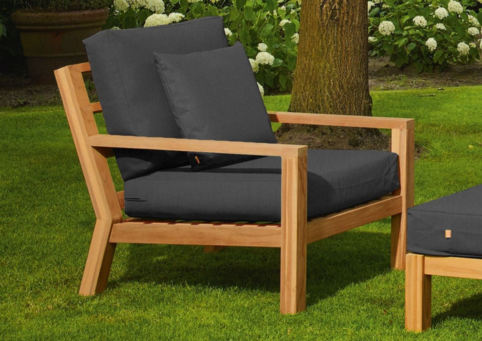 Life Timber outdoor natural teak low chair
