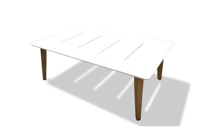 Ponza outdoor aluminium coffee table 120x74