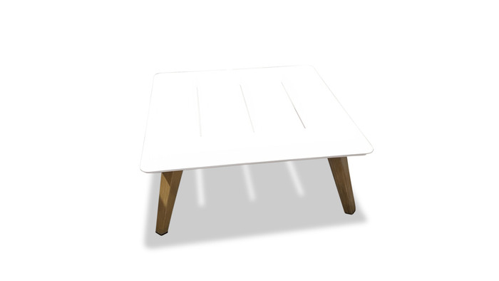 Ponza outdoor aluminium coffee table 74x74