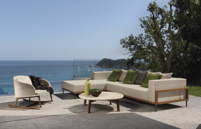 Shown with optional Cleo coffee tables and armchair. Scatter cushions not included.