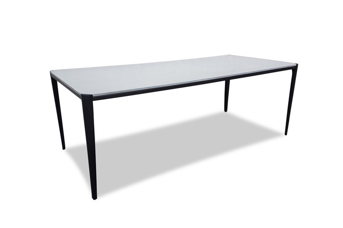 Vera lightweight fibre cement outdoor dining table 210x95